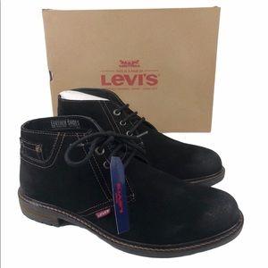 Levi's Cambridge Suede Black Lace Up Boots